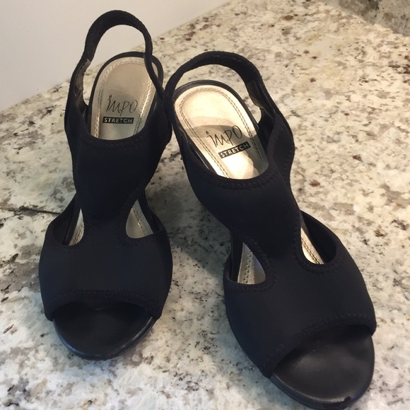 """825415ab568a Impo Shoes - Impo Stretch Sandal 3"""" Wedge. Good used condition."""